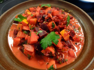 Rote-Beete-Süßkartoffel-Curry
